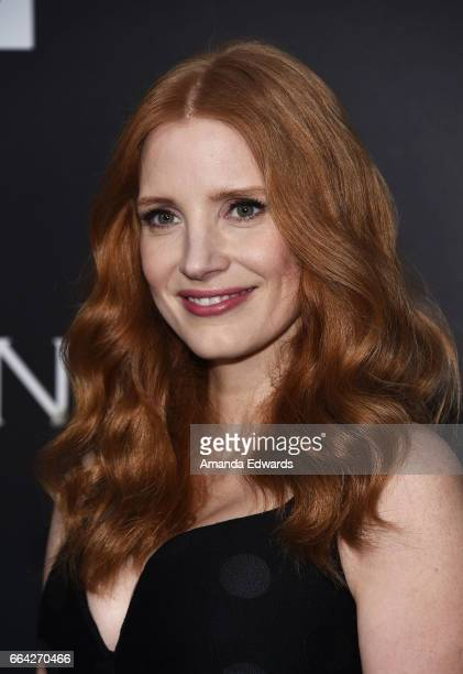 Actress Jessica Chastain arrives at the premiere of AMC's 'The Son' at ArcLight Hollywood on April 3 2017 in Hollywood California