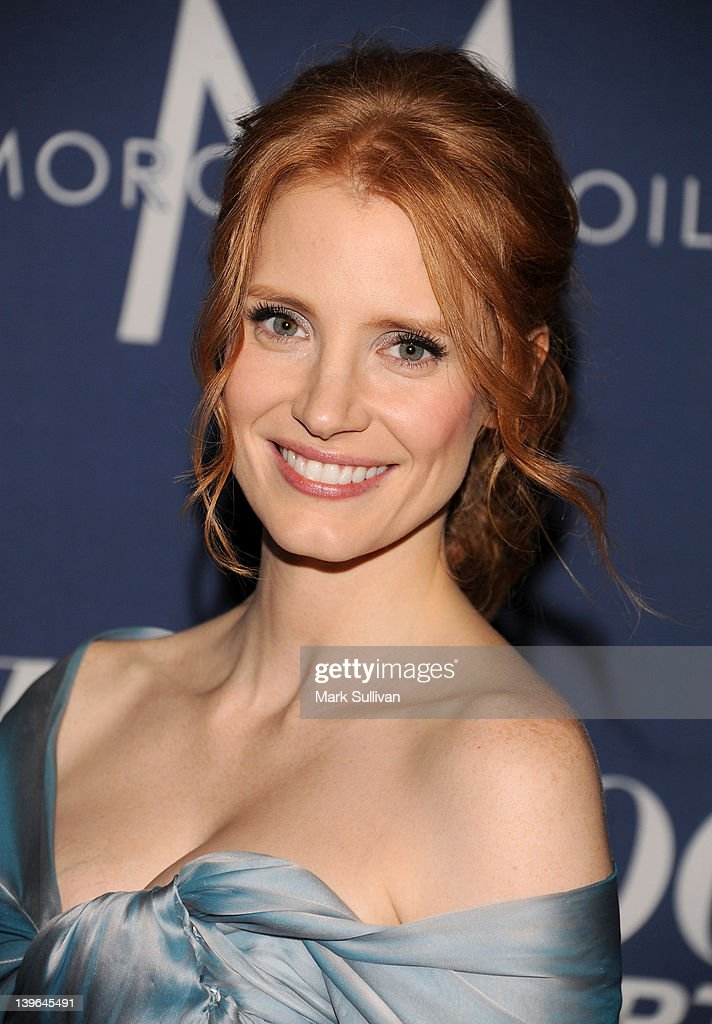 Actress Jessica Chastain arrives for The Hollywood Reporter's 84th Annual Academy Awards nominees celebration at The Getty House on February 23 2012...