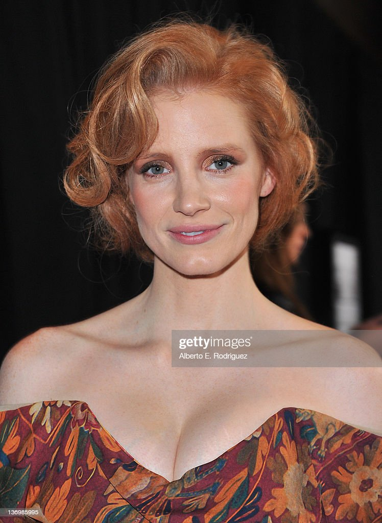 Actress Jessica Chastain arrives to the 37th Annual Los Angeles Film Critics Association Awards at InterContinental Hotel on January 13 2012 in...
