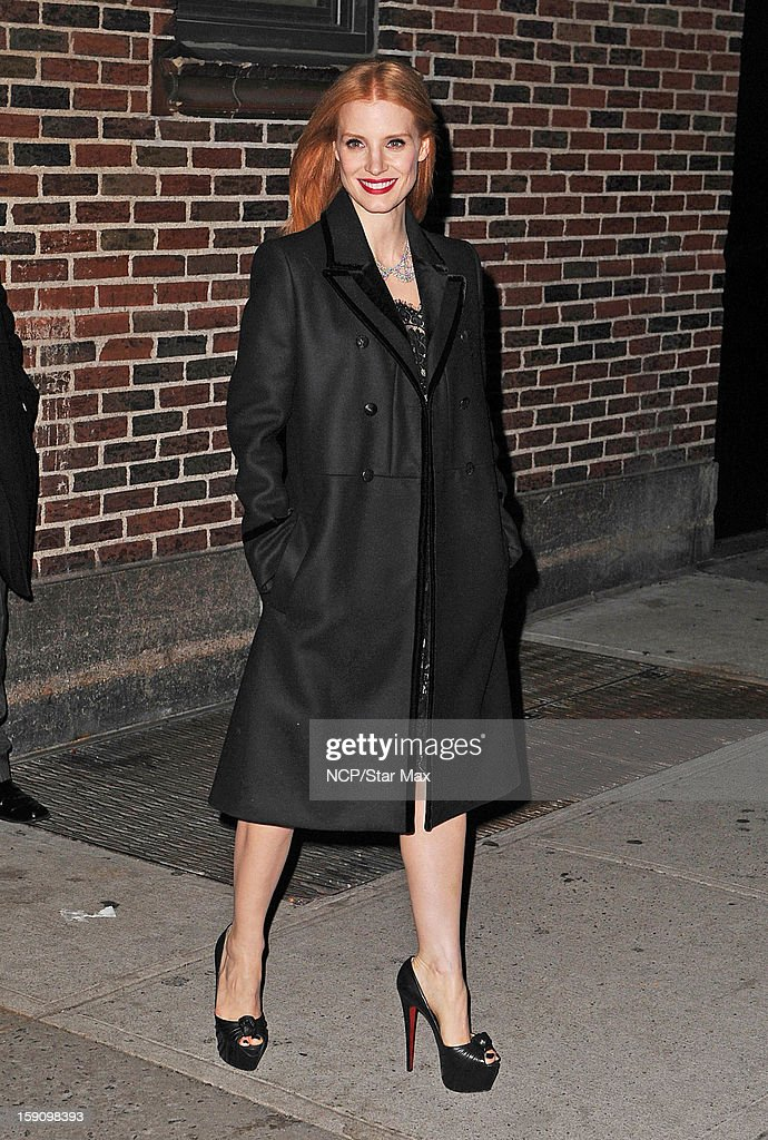 Actress <a gi-track='captionPersonalityLinkClicked' href=/galleries/search?phrase=Jessica+Chastain&family=editorial&specificpeople=653192 ng-click='$event.stopPropagation()'>Jessica Chastain</a> as seen on January 7, 2013 in New York City.