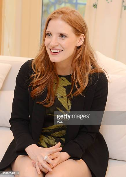 Actress Jessica Chastain attends a press conference during the 67th Annual Cannes Film Festival on May 22 2014 in Cannes France