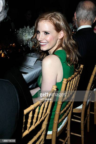 Actress Jessica Chastain attends a tribute to Sir Charles Chaplin by Carmen and Dolores Chaplin with the support of JaegerLeCoultre and cohosted by...