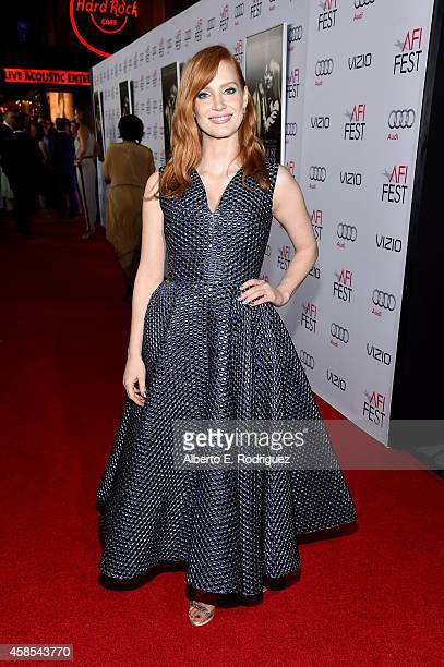 Actress Jessica Chastain attends AFI FEST 2014 presented by Audi opening night gala premiere of A24's 'A Most Violent Year' at Dolby Theatre on...