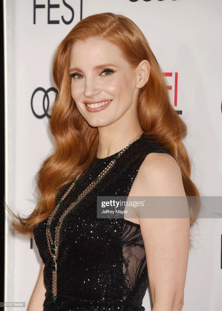 Actress Jessica Chastain attends AFI FEST 2017 Closing Night Gala - Screening of 'Molly's Game' at TCL Chinese Theatre on November 16, 2017 in Hollywood, California.