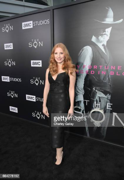 Actress Jessica Chastain attends AMC's 'The SON' premiere at ArcLight Hollywood on April 3 2017 in Hollywood California