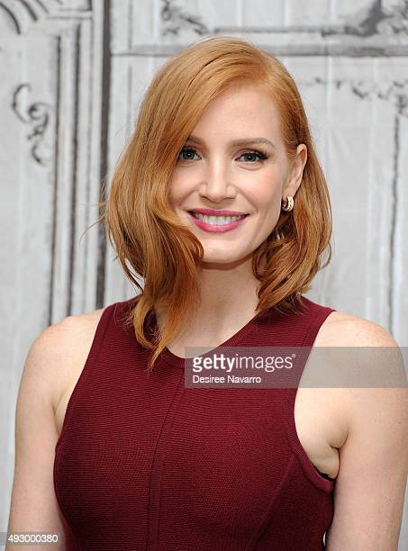 Actress Jessica Chastain attends AOL BUILD Presents 'Crimson Peak' at AOL Studios In New York on October 16 2015 in New York City