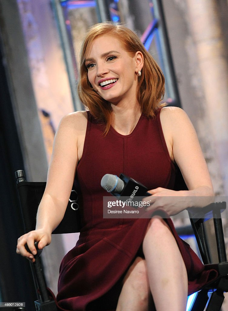Actress Jessica Chastain attends AOL BUILD presents 'Crimson Peak' at AOL Studios In New York on October 16, 2015 in New York City.