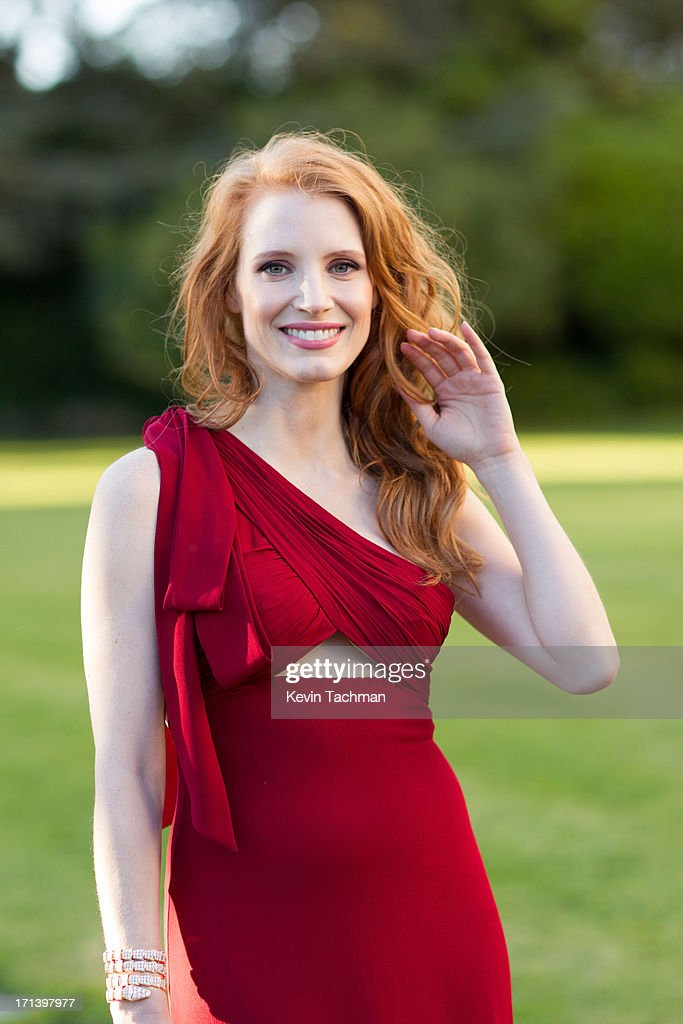 Actress Jessica Chastain attends at the cocktail party for amfAR's 20th Annual Cinema Against AIDS at Hotel du Cap-Eden-Roc on May 23,2013 in Cap d'Antibes, France.