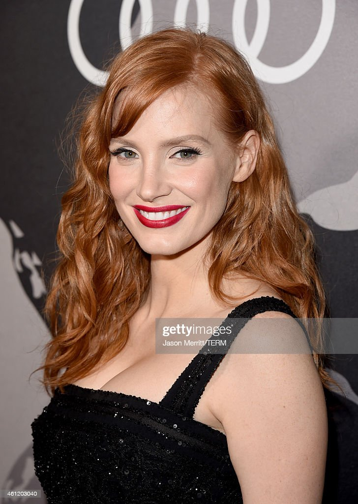 Actress <a gi-track='captionPersonalityLinkClicked' href=/galleries/search?phrase=Jessica+Chastain&family=editorial&specificpeople=653192 ng-click='$event.stopPropagation()'>Jessica Chastain</a> attends Audi celebrates Golden Globes Week 2015 at Cecconi's Restaurant on January 8, 2015 in Los Angeles, California.