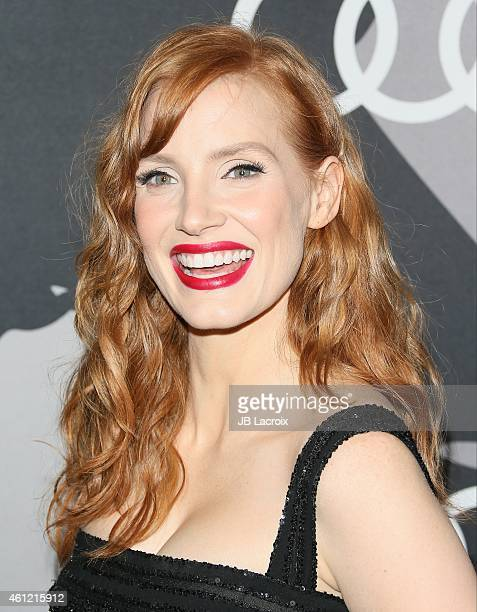 Actress Jessica Chastain attends Audi celebrates Golden Globes Week 2015 at Cecconi's Restaurant on January 8 2015 in Los Angeles California