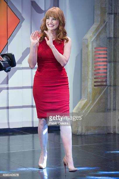 Actress Jessica Chastain attends 'El Hormiguero' tv show at Vertice Studio on September 24 2014 in Madrid Spain