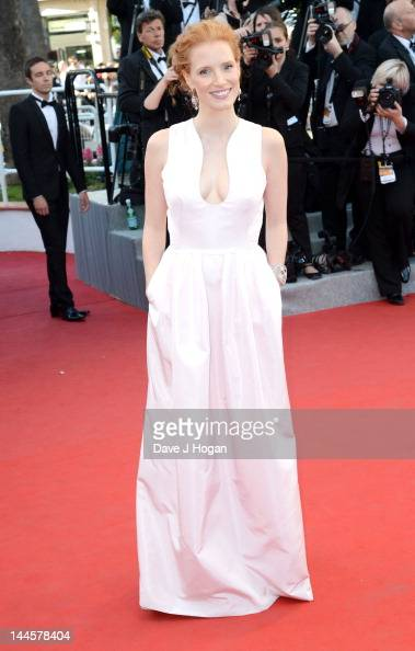 Actress Jessica Chastain attends opening ceremony and 'Moonrise Kingdom' premiere during the 65th Annual Cannes Film Festival at Palais des Festivals...
