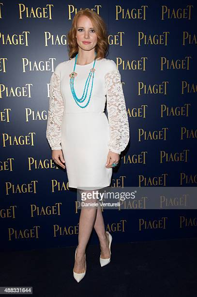 Actress Jessica Chastain attends PIAGET Opening Milan on September 15 2015 in Milan Italy