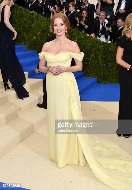 Actress Jessica Chastain attends 'Rei Kawakubo/Comme des Garcons Art Of The InBetween' Costume Institute Gala at Metropolitan Museum of Art on May 1...