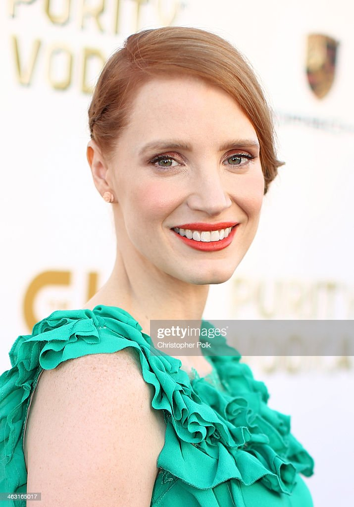 Actress <a gi-track='captionPersonalityLinkClicked' href=/galleries/search?phrase=Jessica+Chastain&family=editorial&specificpeople=653192 ng-click='$event.stopPropagation()'>Jessica Chastain</a> attends the 19th Annual Critics' Choice Movie Awards at Barker Hangar on January 16, 2014 in Santa Monica, California.