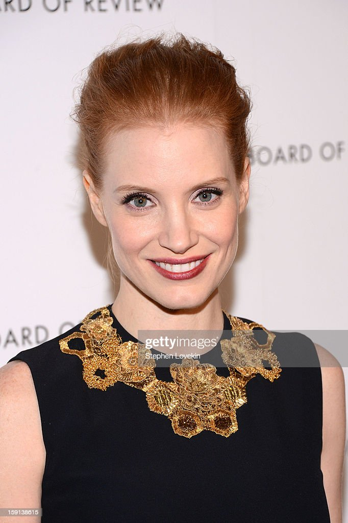 Actress Jessica Chastain attends the 2013 National Board Of Review Awards Gala at Cipriani 42nd Street on January 8, 2013 in New York City.