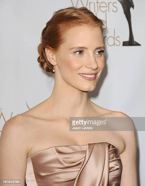 Actress Jessica Chastain attends the 2013 Writers Guild Awards at JW Marriott Los Angeles at LA LIVE on February 17 2013 in Los Angeles California