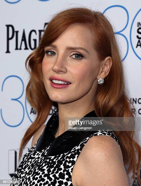 Actress Jessica Chastain attends the 2015 Film Independent Filmmaker Grant and Spirit Awards Nominees Brunch at BOA Steakhouse on January 10 2015 in...