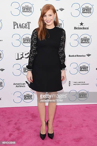 Actress Jessica Chastain attends the 2015 Film Independent Spirit Awards at Santa Monica Beach on February 21 2015 in Santa Monica California