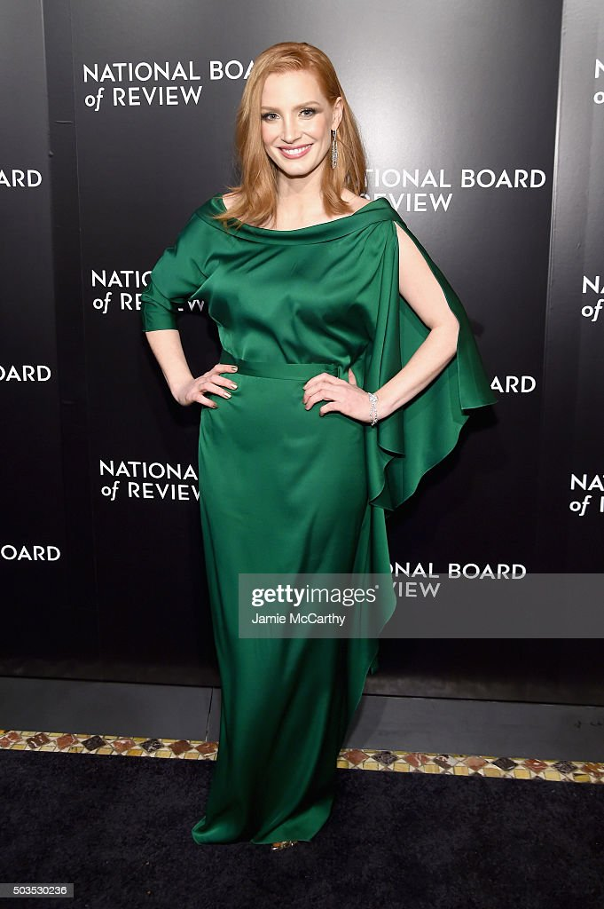 Actress <a gi-track='captionPersonalityLinkClicked' href=/galleries/search?phrase=Jessica+Chastain&family=editorial&specificpeople=653192 ng-click='$event.stopPropagation()'>Jessica Chastain</a> attends the 2015 National Board of Review Gala at Cipriani 42nd Street on January 5, 2016 in New York City.