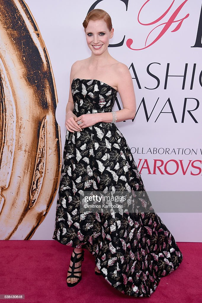 Actress Jessica Chastain attends the 2016 CFDA Fashion Awards at the Hammerstein Ballroom on June 6, 2016 in New York City.