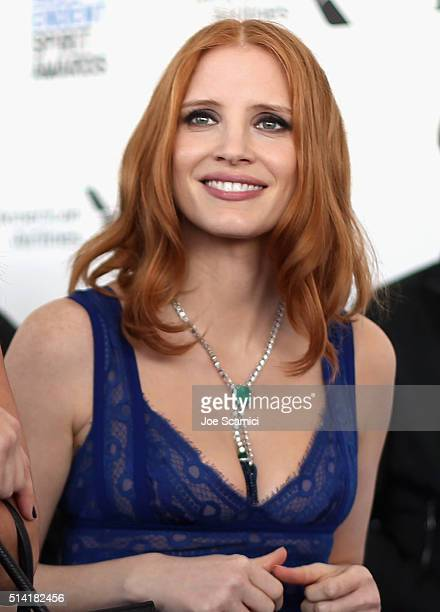 Actress Jessica Chastain attends the 2016 Film Independent Spirit Awards sponsored by Piaget on February 27 2016 in Santa Monica California