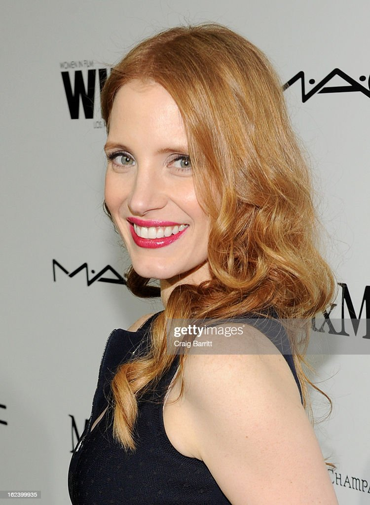 Actress Jessica Chastain attends the 6th Annual Women In Film Pre-Oscar Party hosted by Perrier Jouet, MAC Cosmetics and MaxMara at Fig & Olive on February 22, 2013 in Los Angeles, California.