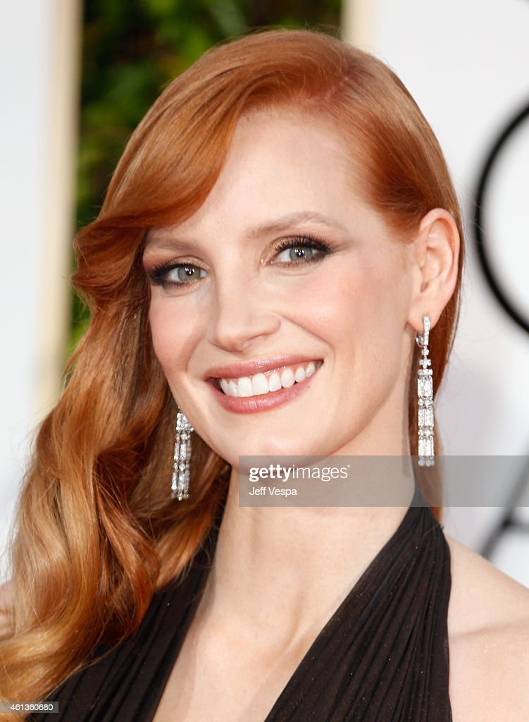 Actress <a gi-track='captionPersonalityLinkClicked' href=/galleries/search?phrase=Jessica+Chastain&family=editorial&specificpeople=653192 ng-click='$event.stopPropagation()'>Jessica Chastain</a> attends the 72nd Annual Golden Globe Awards at The Beverly Hilton Hotel on January 11, 2015 in Beverly Hills, California.