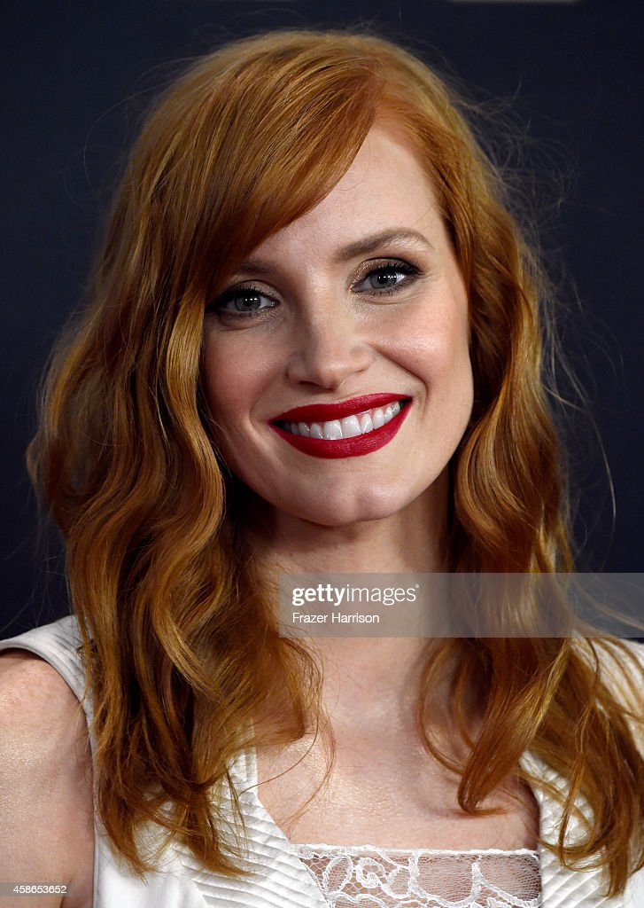 Actress Jessica Chastain attends the Academy Of Motion Picture Arts And Sciences' 2014 Governors Awards at The Ray Dolby Ballroom at Hollywood & Highland Center on November 8, 2014 in Hollywood, California.