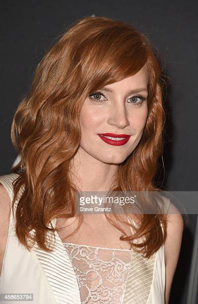 Actress Jessica Chastain attends the Academy Of Motion Picture Arts And Sciences' 2014 Governors Awards at The Ray Dolby Ballroom at Hollywood...