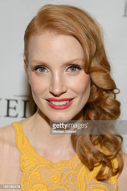Actress Jessica Chastain attends the after party following the Broadway revival opening night of 'The Heiress' at The Edison Ballroom on November 1...