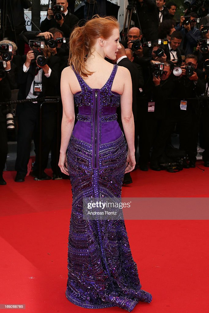 Actress Jessica Chastain attends the 'All Is Lost' Premiere during the 66th Annual Cannes Film Festival at Palais des Festivals on May 22, 2013 in Cannes, France.