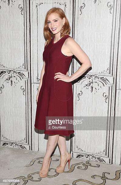 Actress Jessica Chastain attends the AOL BUILD Presents 'Crimson Peak' at AOL Studios In New York on October 16 2015 in New York City