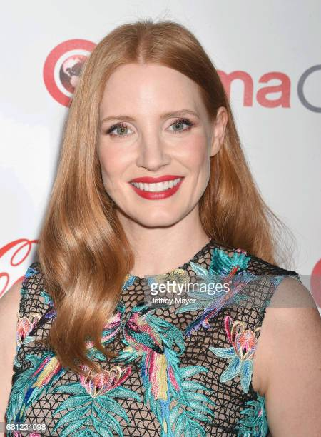 Actress Jessica Chastain attends the CinemaCon Big Screen Achievement Awards at Omnia Nightclub at Caesars Palace during CinemaCon the official...