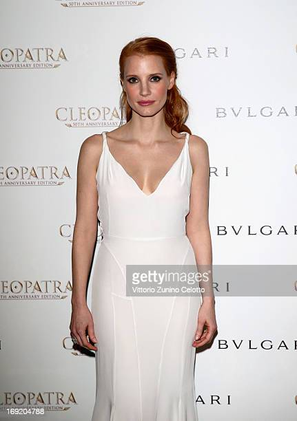 Actress Jessica Chastain attends the 'Cleopatra' cocktail hosted by Bulgari during The 66th Annual Cannes Film Festival at JW Marriott on May 21 2013...