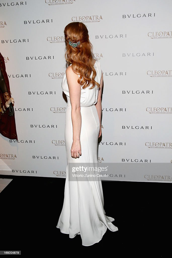 Actress Jessica Chastain attends the 'Cleopatra' cocktail hosted by Bulgari during The 66th Annual Cannes Film Festival at JW Marriott on May 21, 2013 in Cannes, France.