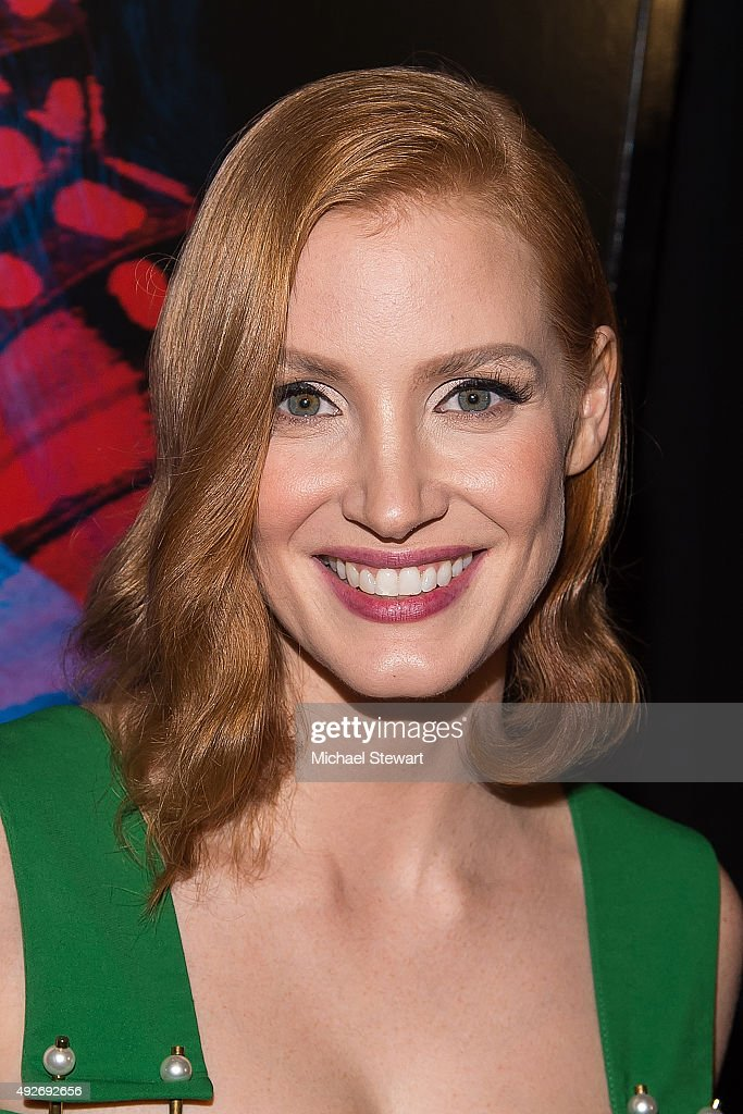 Actress Jessica Chastain attends the 'Crimson Peak' New York premiere at AMC Loews Lincoln Square on October 14, 2015 in New York City.