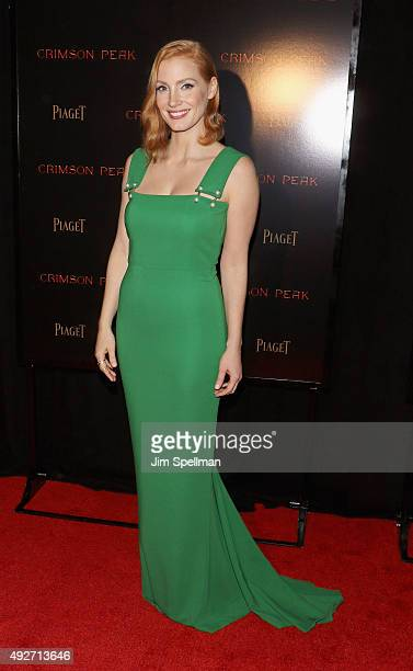 Actress Jessica Chastain attends the 'Crimson Peak' New York premiere at AMC Loews Lincoln Square on October 14 2015 in New York City