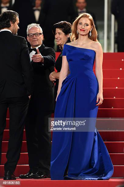 Actress Jessica Chastain attends 'The Disappearance Of Eleanor Rigby' Premiere at the 67th Annual Cannes Film Festival on May 17 2014 in Cannes France
