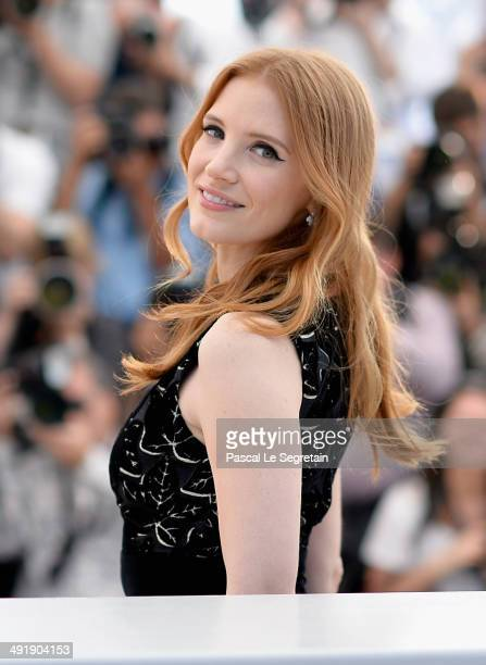 Actress Jessica Chastain attends 'The Disappearance of Eleanor Rigby' photocall at the 67th Annual Cannes Film Festival on May 18 2014 in Cannes...