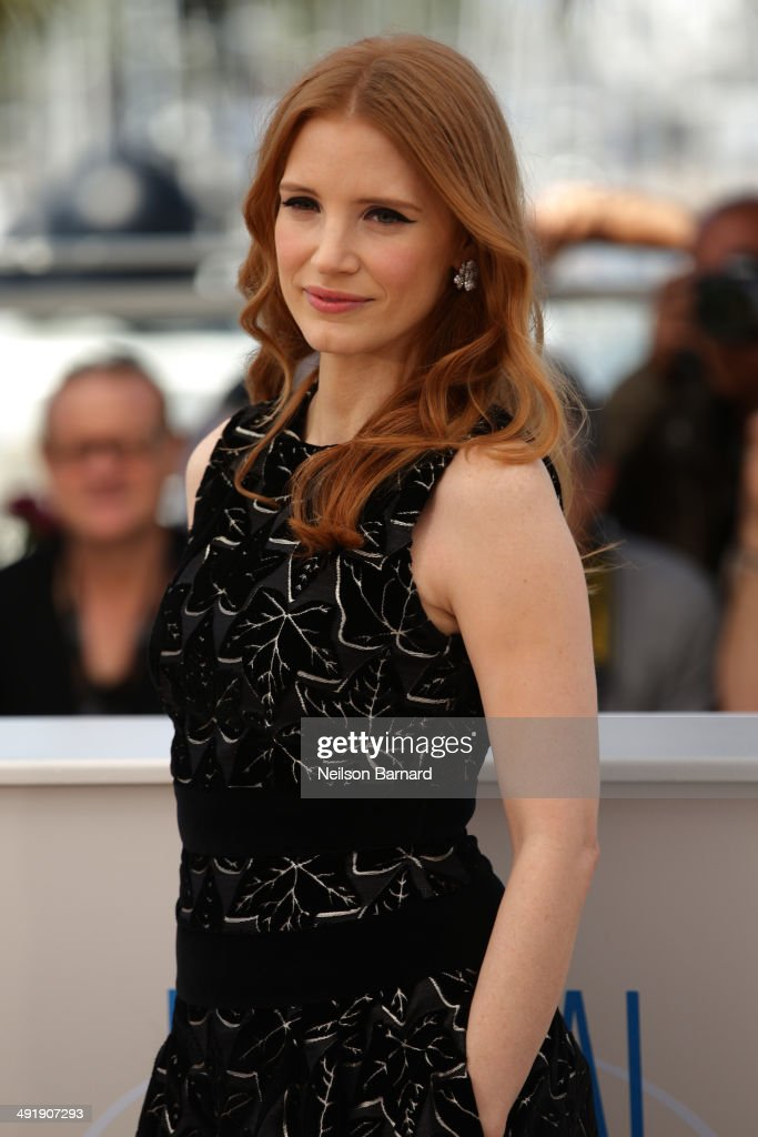 Actress <a gi-track='captionPersonalityLinkClicked' href=/galleries/search?phrase=Jessica+Chastain&family=editorial&specificpeople=653192 ng-click='$event.stopPropagation()'>Jessica Chastain</a> attends 'The Disappearance of Eleanor Rigby' photocall at the 67th Annual Cannes Film Festival on May 18, 2014 in Cannes, France.