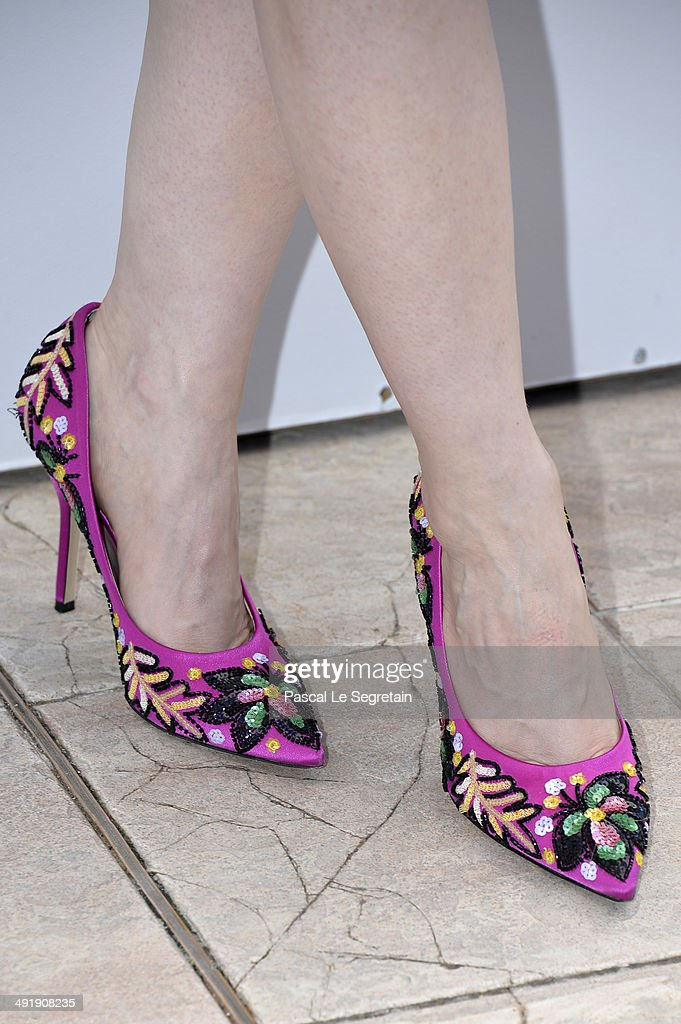 Actress Jessica Chastain (shoe detail) attends 'The Disappearance of Eleanor Rigby' photocall at the 67th Annual Cannes Film Festival on May 18, 2014 in Cannes, France.
