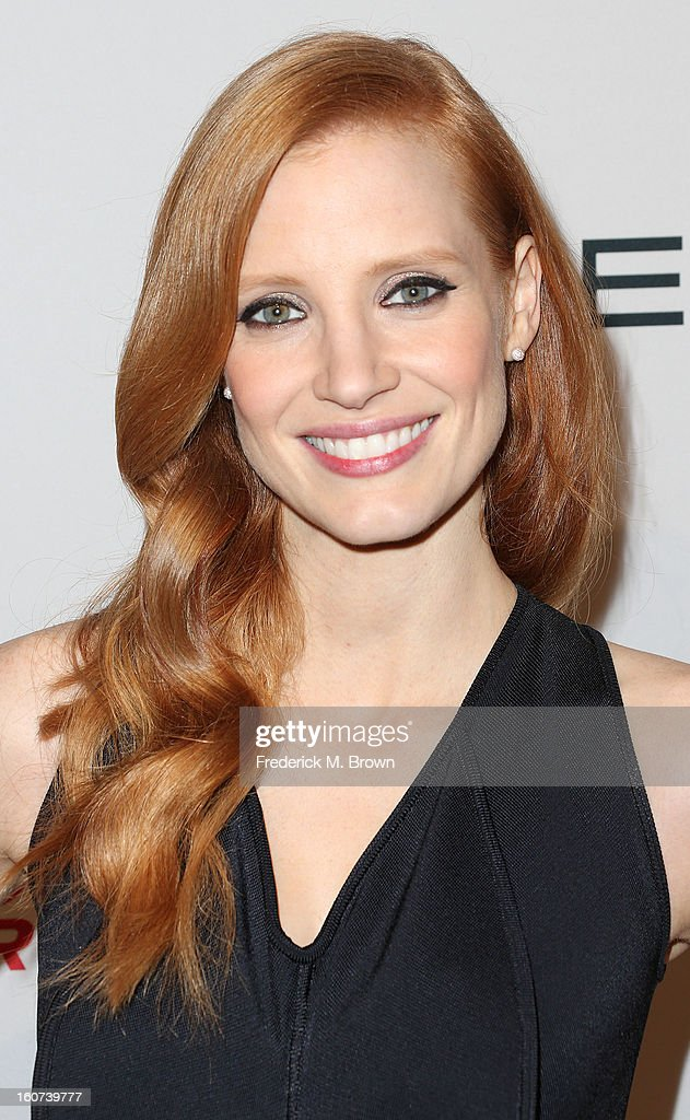 Actress <a gi-track='captionPersonalityLinkClicked' href=/galleries/search?phrase=Jessica+Chastain&family=editorial&specificpeople=653192 ng-click='$event.stopPropagation()'>Jessica Chastain</a> attends The Hollywood Reporter Nominees' Night 2013 Celebrating The 85th Annual Academy Award Nominees at Spago on February 4, 2013 in Beverly Hills, California.
