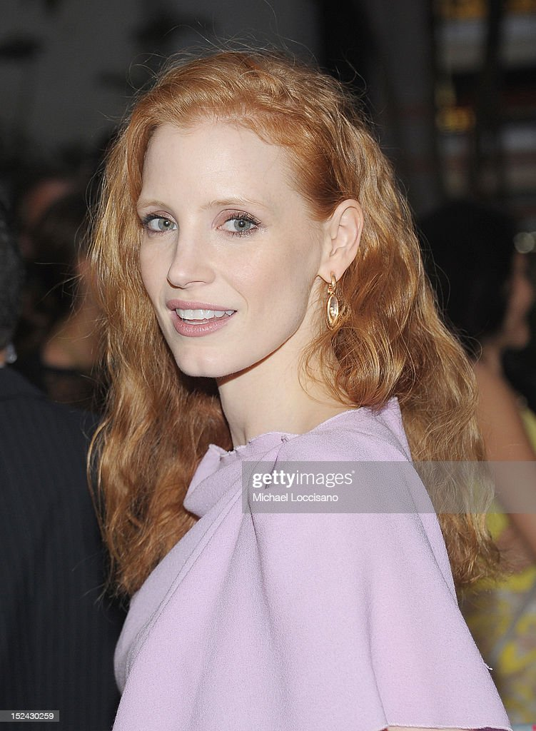 Actress <a gi-track='captionPersonalityLinkClicked' href=/galleries/search?phrase=Jessica+Chastain&family=editorial&specificpeople=653192 ng-click='$event.stopPropagation()'>Jessica Chastain</a> attends the 'If There Is I Haven't Found It' Broadway opening night at Laura Pels Theatre on September 20, 2012 in New York City.