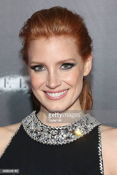 Actress Jessica Chastain attends the 'Interstellar' New York premiere at AMC Lincoln Square Theater on November 3 2014 in New York City