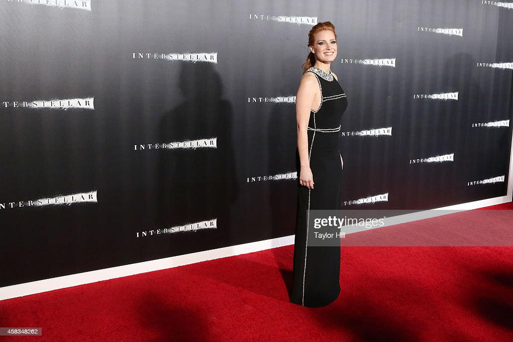 Actress Jessica Chastain attends the 'Interstellar' New York premiere at AMC Lincoln Square Theater on November 3, 2014 in New York City.