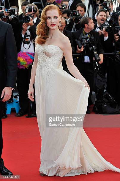 Actress Jessica Chastain attends the 'Madagascar 3 Europe's Most Wanted' Premiere during the 65th Annual Cannes Film Festival at Palais des Festivals...