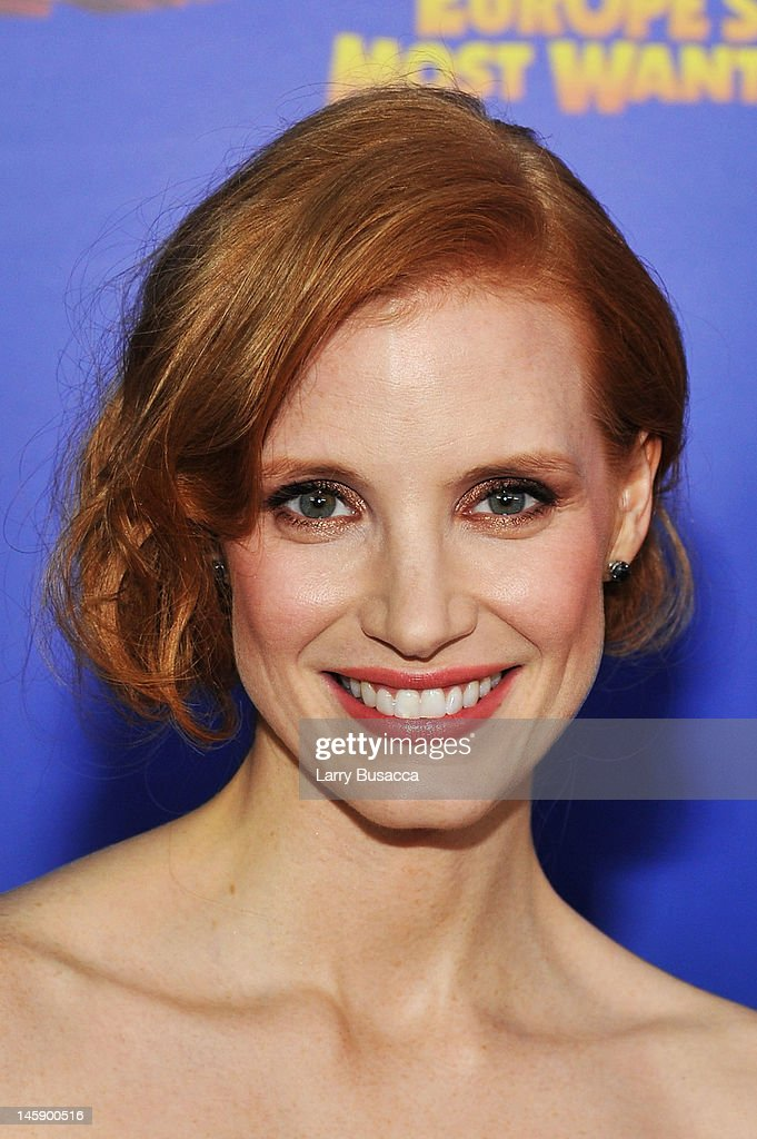 Actress <a gi-track='captionPersonalityLinkClicked' href=/galleries/search?phrase=Jessica+Chastain&family=editorial&specificpeople=653192 ng-click='$event.stopPropagation()'>Jessica Chastain</a> attends the 'Madagascar 3: Europe's Most Wanted' New York Premiere at Ziegfeld Theatre on June 7, 2012 in New York City.