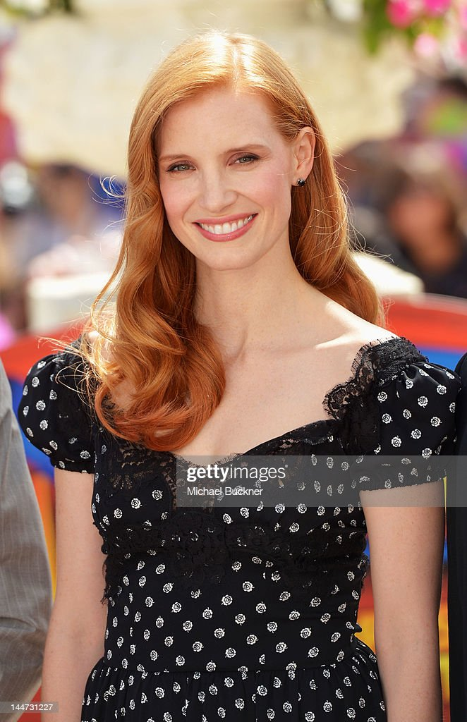Actress <a gi-track='captionPersonalityLinkClicked' href=/galleries/search?phrase=Jessica+Chastain&family=editorial&specificpeople=653192 ng-click='$event.stopPropagation()'>Jessica Chastain</a> attends the 'Madagascar 3' Photo Op during the 65th Annual Cannes Film Festival at Carlton Hotel on May 17, 2012 in Cannes, France.