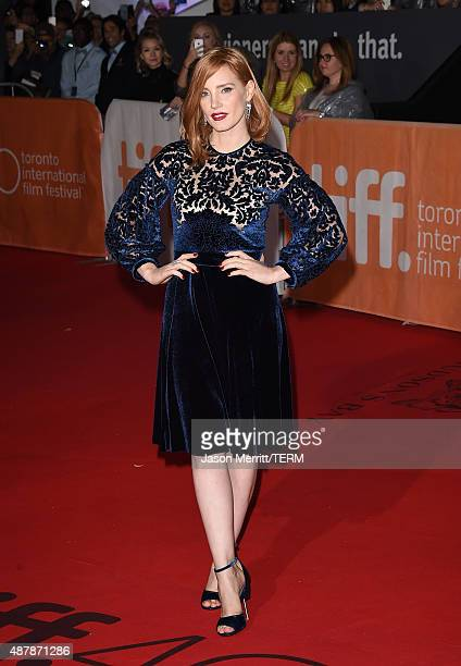 Actress Jessica Chastain attends 'The Martian' premiere during the 2015 Toronto International Film Festival at Roy Thomson Hall on September 11 2015...
